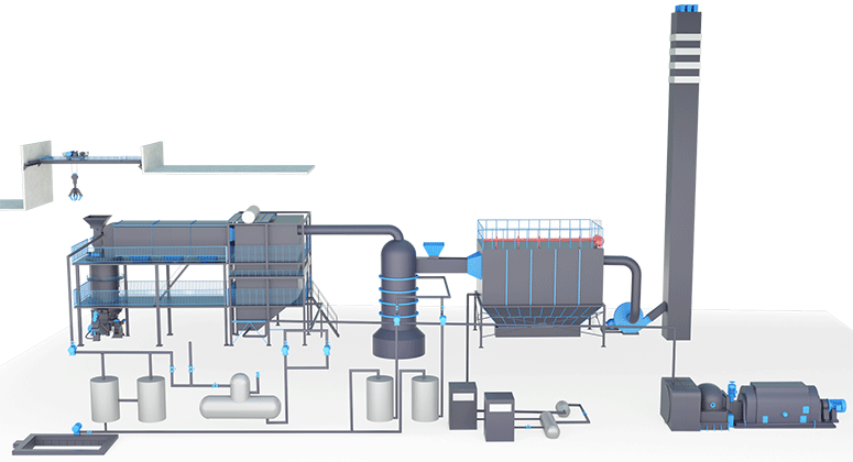 Waste pyrolysis gasification power generation